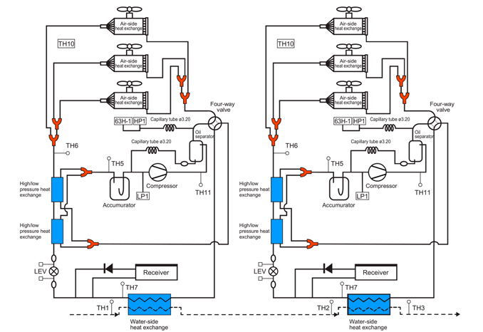 90 0 kw modular chiller    heat pump      mitsubishi electric