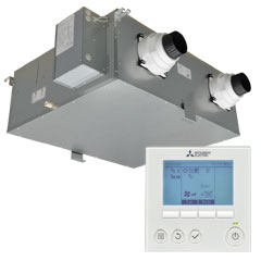 fresh air home ventilation with lossnay heat recovery