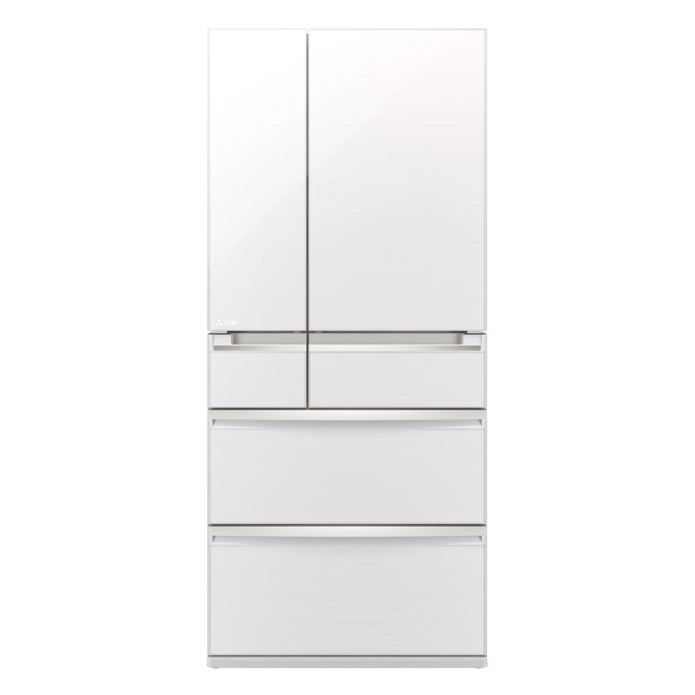 This Diamond White Glass Front 743L French Door 4 Drawer Fridge Is The  Flagship Of Multi Drawer Refrigeration. Made In Japan, It Features Separate  Fully ...