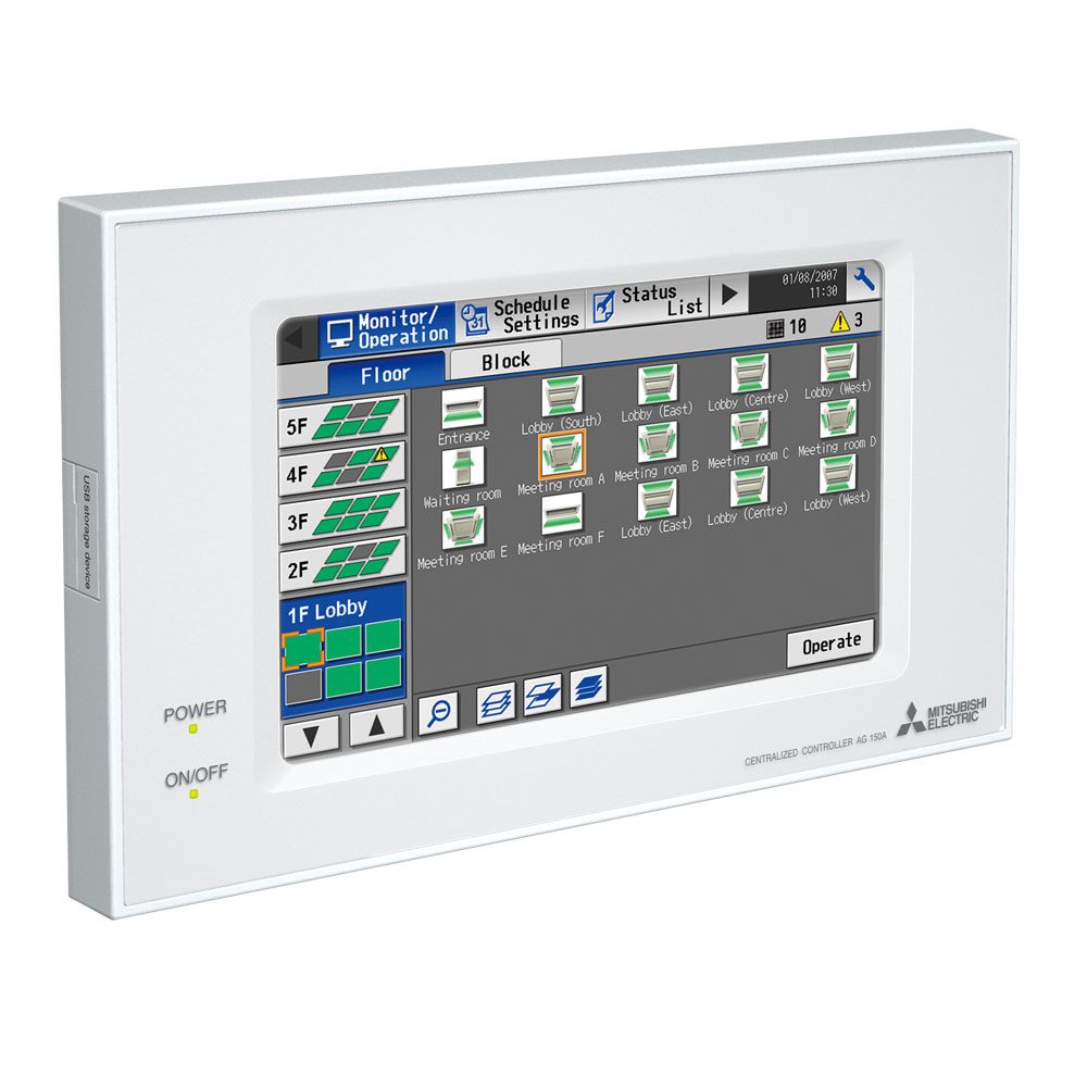 Ag 150a J Ag150 Centralised And Web Controller Mitsubishi Electric Thermostat