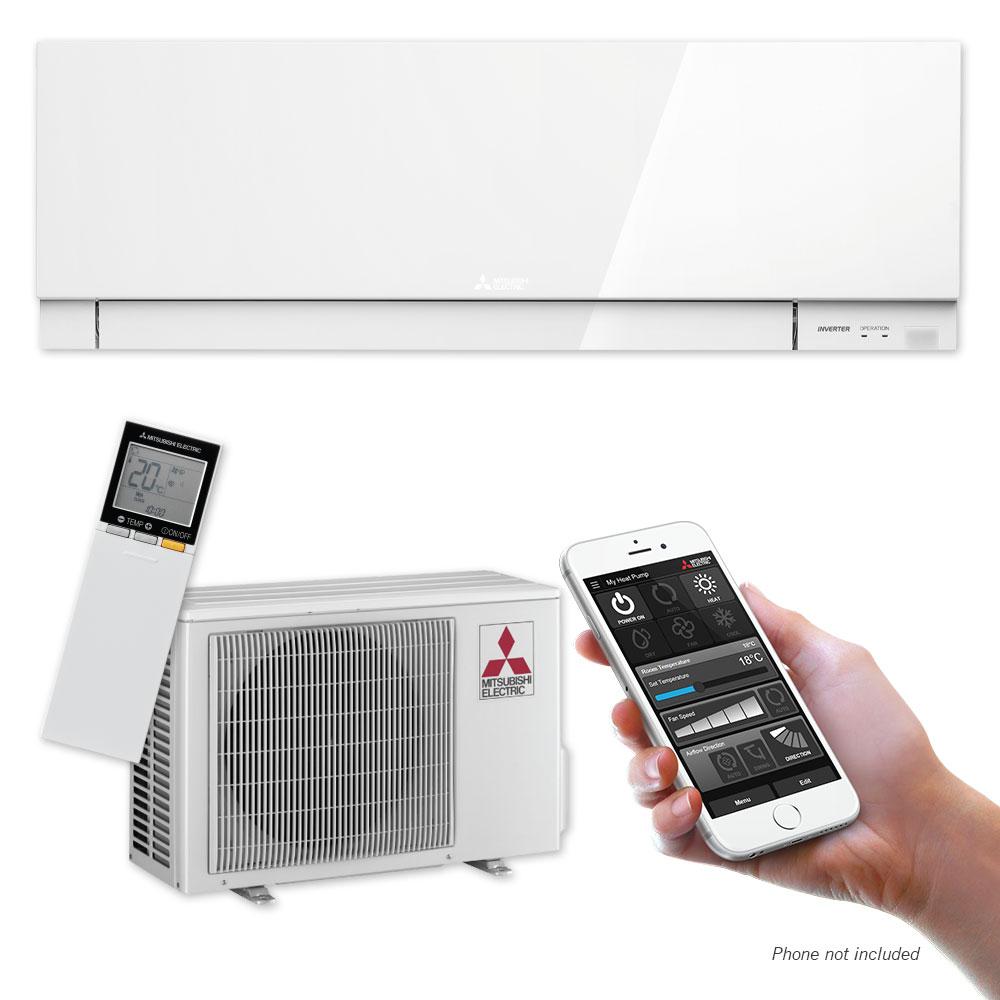 Designer EF25 High Wall Heat Pump with Wi Fi