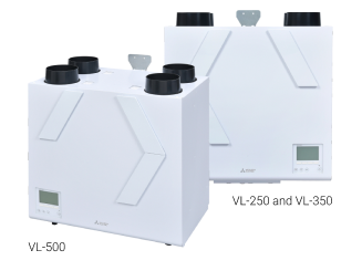 Vertical Lossnay Units, VL250, 350 and 500